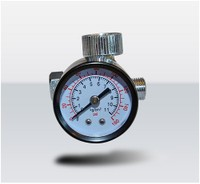 T4W  Air Pressure regulator with gauge for Spray Guns / Silver (59402)